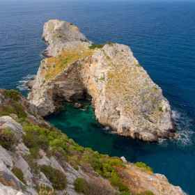 Nice cliff at the nord end of Skiathos