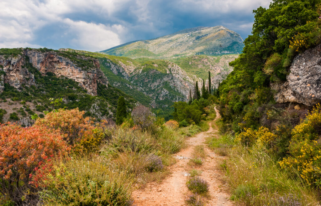 Trail near Kardamyli to the Viros Gorge