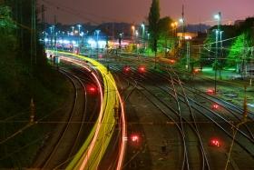 Eine Kurve vor dem Westbahnhof Aachen