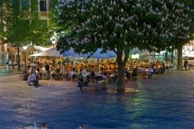 Abendstimmung auf dem Aachener Marktplatz