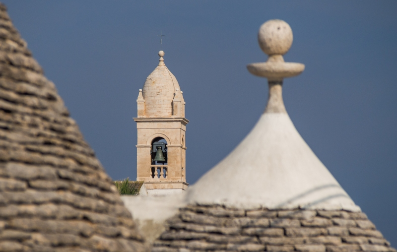Kerktoren in Alberobello