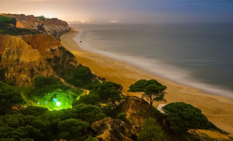 Praia da Falesia - Algarve - rond middernacht