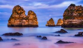 Praia do Camilo - Algarve - blauw uurtje - Portugal