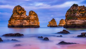 Praia do Camilo - Algarve - blue hour - Portugal