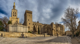 Square Below the Palace of the Popes - Panorama
