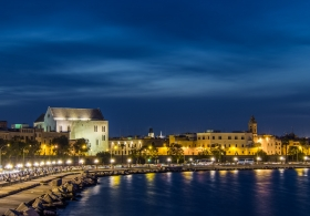 Coastline of Bari, Citta Vecchia, with San Nicola