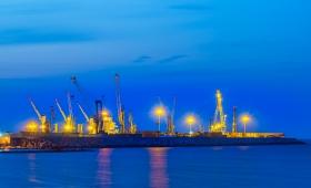 Terminal Crociere Bari Port at night