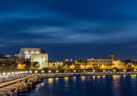 Coastline of Bari, Citta Vecchia, with San Nicola