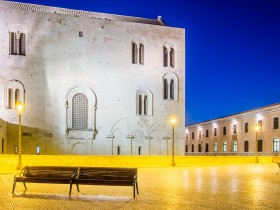 Basilica San Nicola during the blue hour