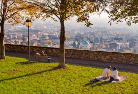Uitzicht over Bergamo