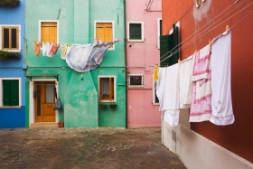 Burano with some laundry