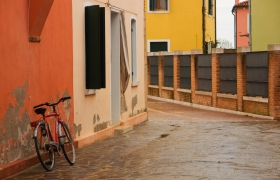 Burano House with Bicycle