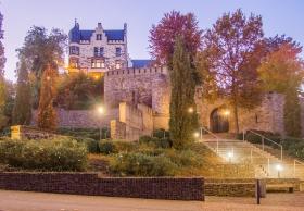 Burg Rode Herzogenrath am Abend