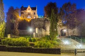 Burg Rode Herzogenrath bei Nacht