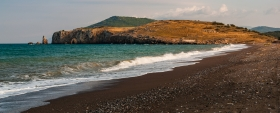 Strand bij Kria Vrisi (Euboea)