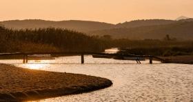 Strand bij Kria Vrisi (Euboea) met riviertje