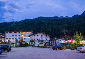 Backside view of Hotel Bergland