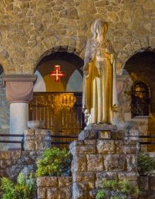 Heilig Hartbeeld voor de Kerk in Haanrade