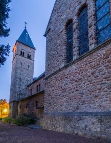 De kerk van Haanrade aan de noordzijde