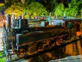 Steam train in Kalamata