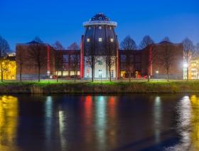 Bonnefantenmuseum bij nacht