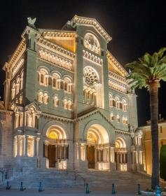 Monaco Cathedrale Saint Nicholas Nuit