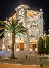 12 Monaco Cathedrale Saint Nicholas Nacht
