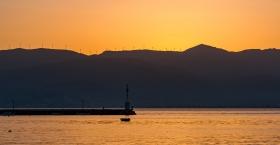 Zonsondergang in Nafplio
