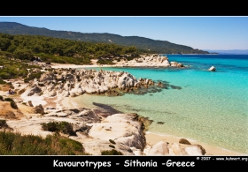 Beach : Kavourtrypes on Sithonia , Chalkidiki