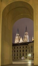 Boog van het kasteel van Praag