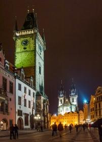 Oudestadraadhuis Praag bij nacht