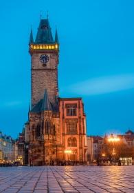 Altstädter Rathaus Prag bei Nacht