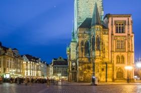 Altstädter Rathaus Prag vom Altstädter Ring aus gesehen