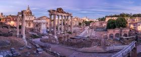 Panorama vom Forum Romanum am Abend
