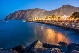 Santorini - Kamari Beach bij nacht