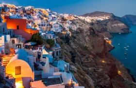Santorini bij nacht - Oia - Blauw uurtje