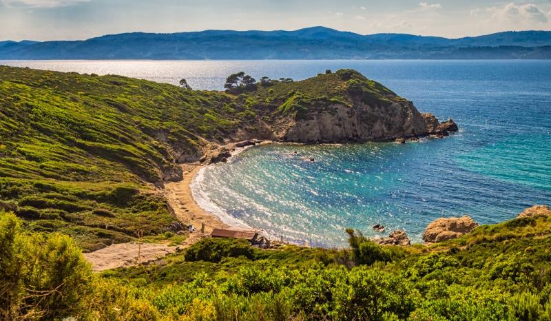 Krifi Ammos - verstopt strand op Skiathos