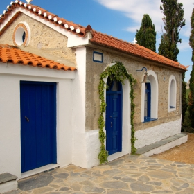 Skiathos - A little church near Kastro
