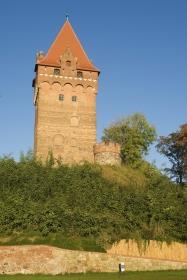 Kapitelturm auf dem Schloss Tangermünde an der Elbe