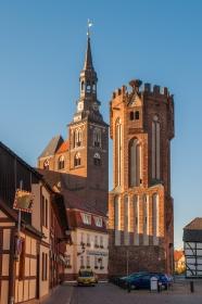 Eulenturm und Stephanskirche in Tangermünde