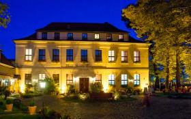 Hotel Schloss Tangermünde bij nacht