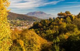Ristorante Il Pianone Bergamo in herfstachtig landschap