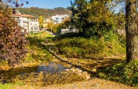 Een beekje bij Ponteranica bij Bergamo